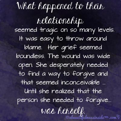 forgive-herself